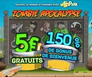 WinsPark : 5 euros offerts + bonus de 150% jusqu'à 200 euros