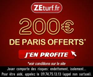 ZEturf - 200 euros de paris sportifs offerts