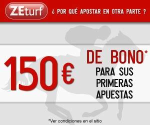 ZEturf : Bono en el primer depósito de hasta 150 euros