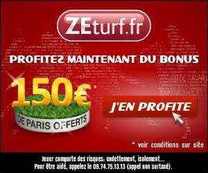 Prolongation du bonus de 150 euros sur ZEturf au 15 avril 2012