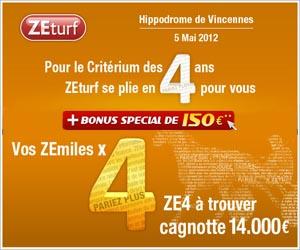 ZEturf - Opération spéciale pour le Criterium des 4 ans