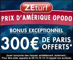 ZEturf : jusqu'à 300 euros de paris offerts