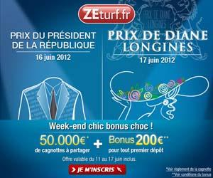 ZEturf : Bonus de 200€ du 11 au 17 juin + 2 cagnottes de 50,000€