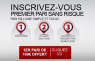 BetClic rembourse le 1er pari perdant jusqu'à 100€ en cash