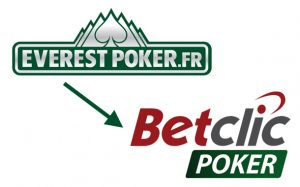 Everest Poker France devient BetClic Poker