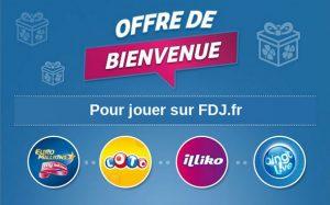 Offre de bienvenue pour jouer sur FDJ.fr
