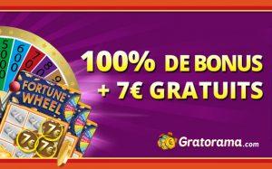 Bonus Gratorama sur le 1er dépôt