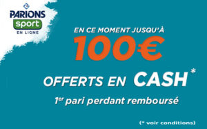 parionssport en ligne bonus 1er pari perdant 100 euros
