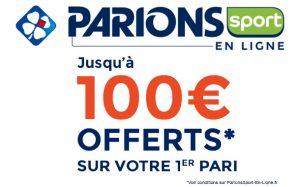 Bonus de 100€ ParionsSport en Ligne