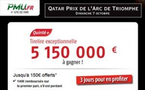 PMU.fr bonus Qatar Prix Arc de Triomphe