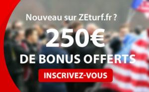 ZEturf.fr 250 euros de bonus offerts