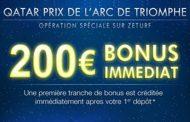 ZEturf : bonus spécial de 200 euros