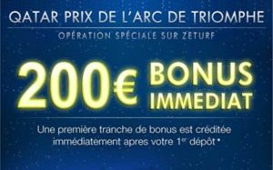 ZEturf : bonus Qatar Prix Arc de Triomphe