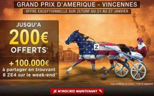 ZEturf -Grand Prix Amérique à Vincennes